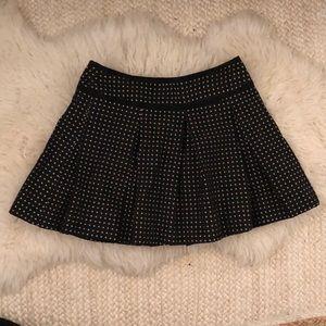 Nanette Lepore Pleated Jacquard Skirt